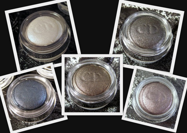 Diorshow Fusion Mono Eyeshadoes in (Top, L-R) 001 Lune, 081 Aventure, (Bottom, L-R) 281 Cosmos, 381 Millenium & 881 Hypnotique