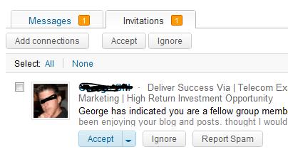 LinkedIn Invitation Example