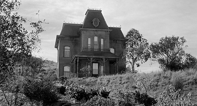 Bates home as seen in Psycho, 1960