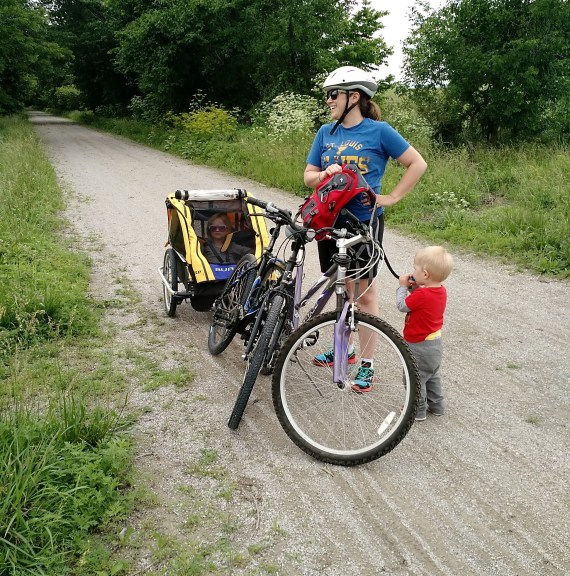 Biking on the Katy Trail