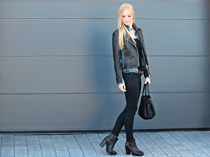 Outfit: The love between Leather and Jeans