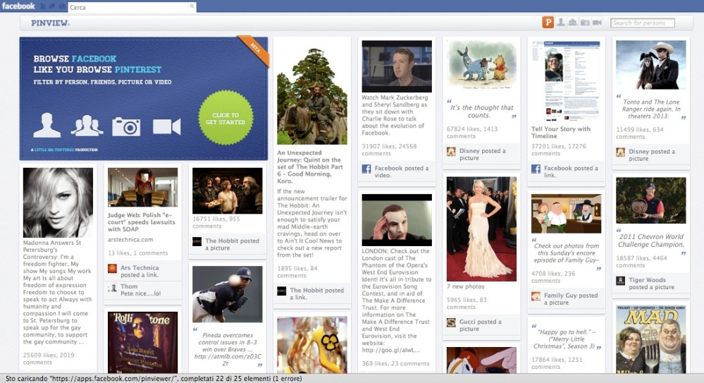 Pinview: la risposta di Facebook a Pinterest (2/2)