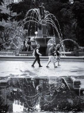 Rainy Day Archibald Fountain