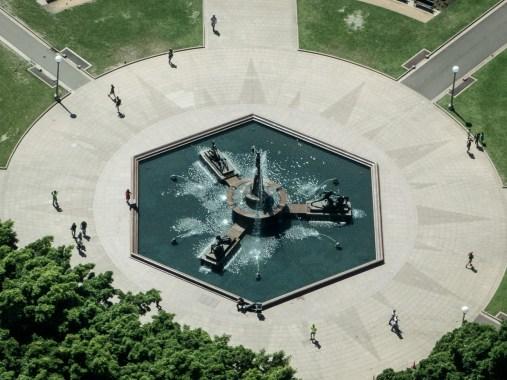 Above Archibald Fountain