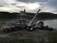 Paddleboat in for repairs