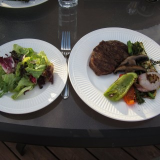 A Healthy Post-fair Meal: Grilled Steak and Grilled Vegetables