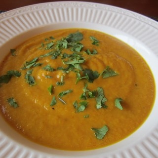 Curried Pumpkin Soup, a Perfect Lunch for an Autumn Day