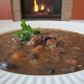 The Soup Parade Continues with Black Bean and Chorizo