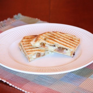 Caramelized Onion and Pear Panini
