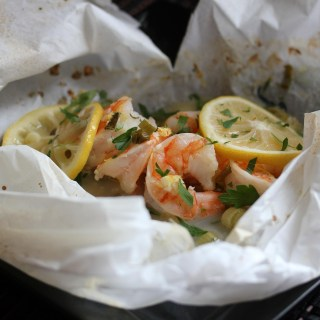 Shrimp Scampi in Parchment
