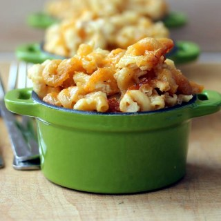 Three Cheese Slow Cooker Macaroni and Cheese