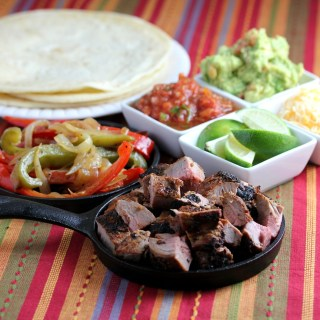 Grilled Pork Tenderloin Fajitas