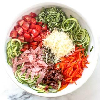 """Italian Cucumber """"Pasta"""" Salad"""
