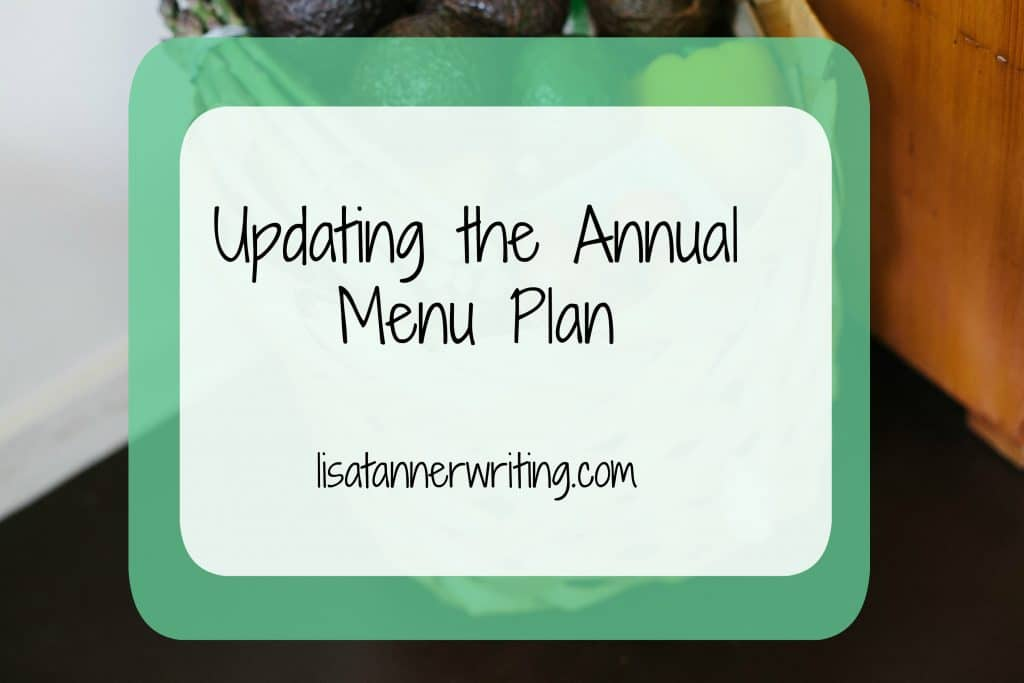 Updating the Annual Menu Plan