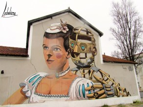 PixelPancho, Santa Apolónia, mars 2014. Détruit en juin 2016