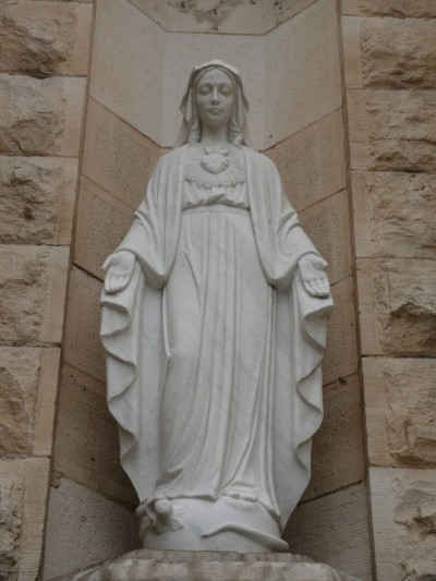 Saint_Mary's_cathedral_in_Austin_-_statue