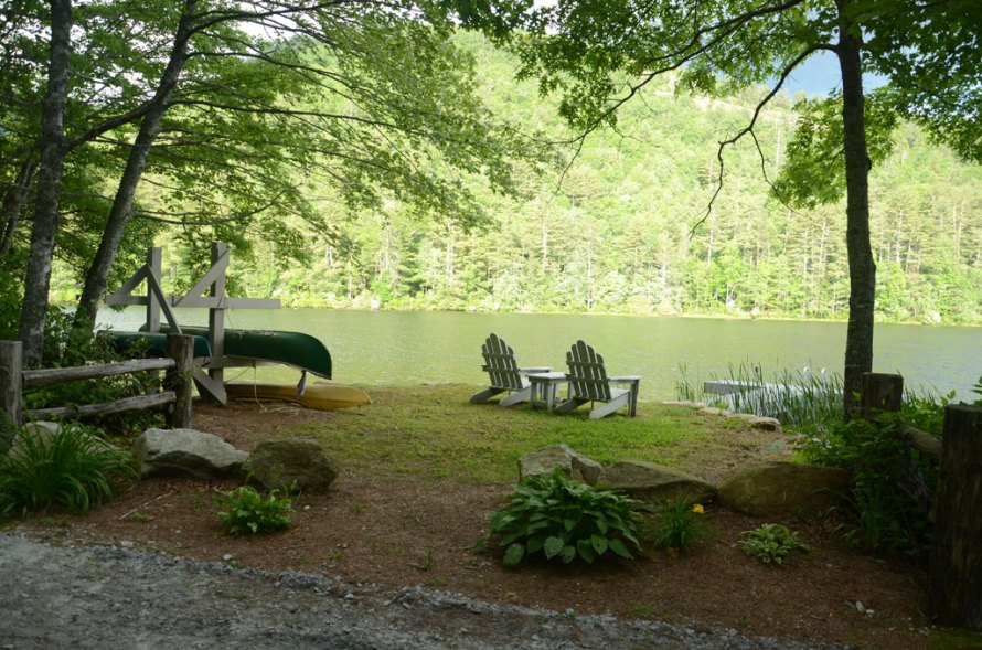 I want to go to camp-chairs and canoe beside the lake
