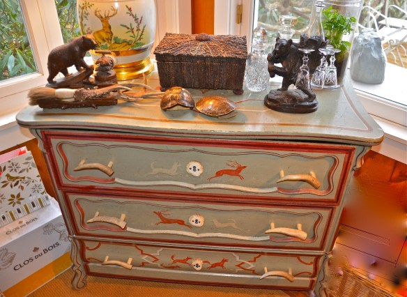 Painted furniture makes an appearance in almost every room