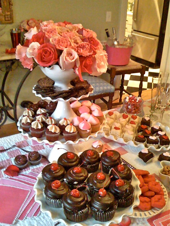 Cupcakes, cupcakes and more cupcakes–and Pink Champagne