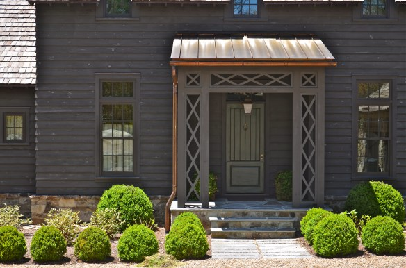 A little closer look at the copper covered entry porch