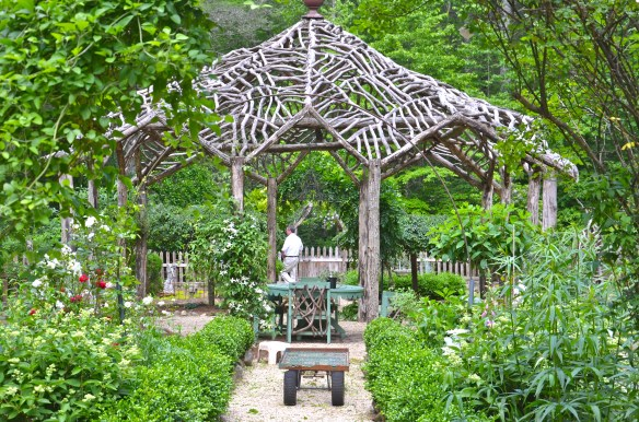 Magnificent central gazebo houses a charming seating area
