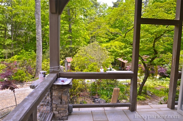 Outdoor dining will be delightful with this garden view