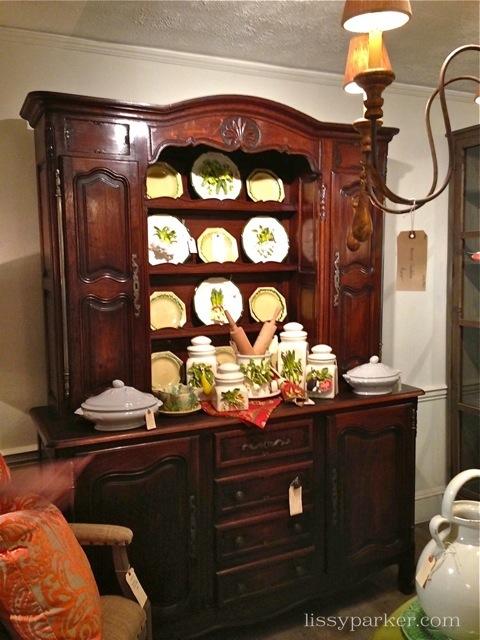 Beautiful small China cabinet-looks great wtih Eve Gorden veggies