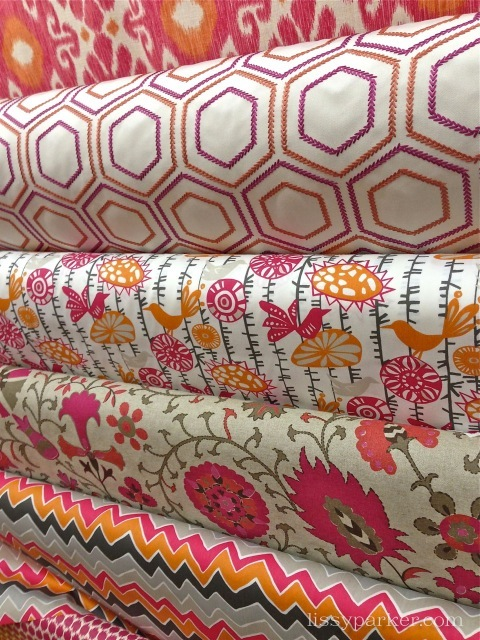 Ikats, geometrics, florals, and stripes are everywhere