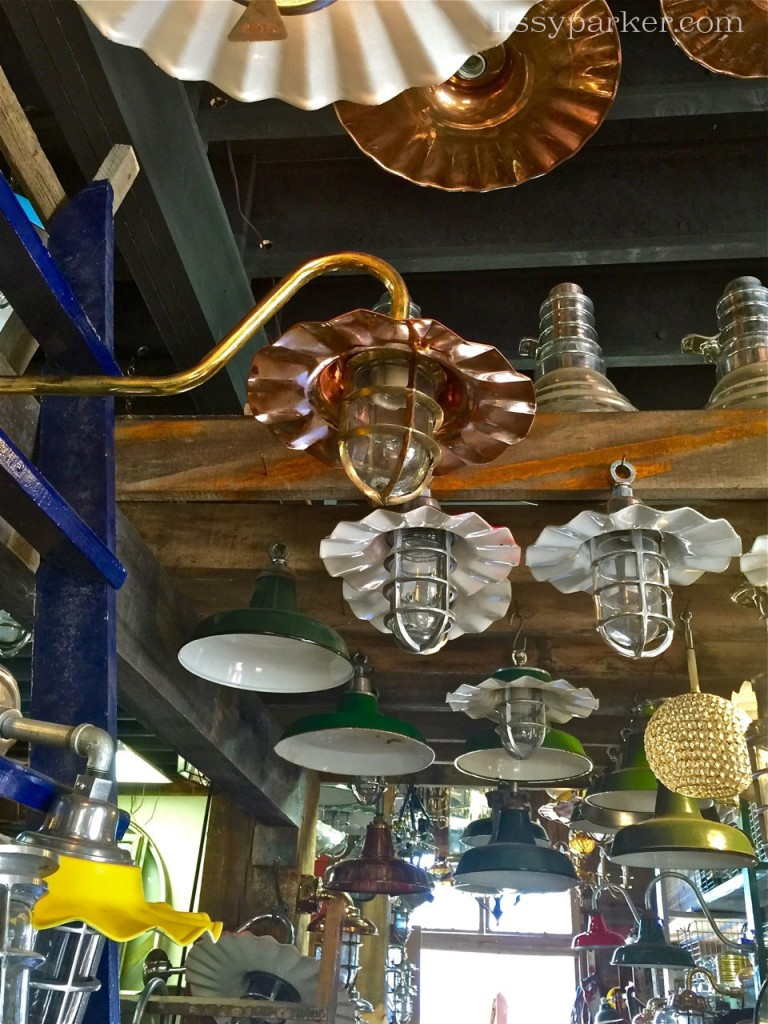 They can be hung from the ceiling or used as sconces