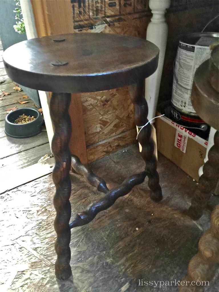 Three legged stool would make a great side table