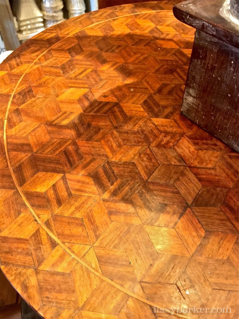 Beautiful little marquetry tables