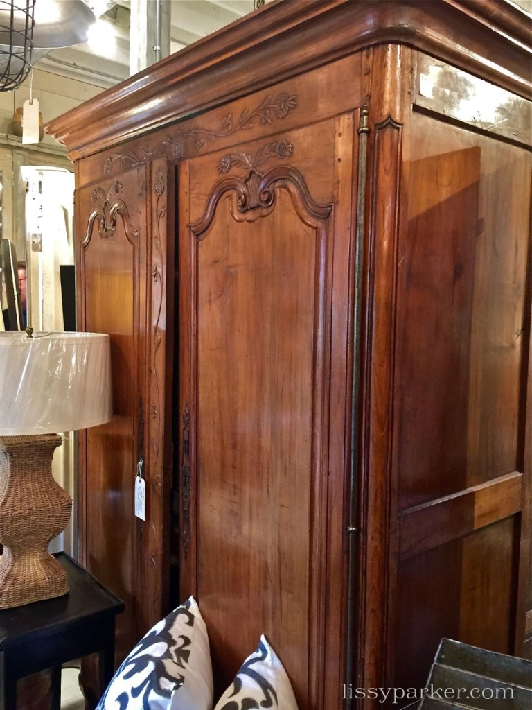 large carved wardrobes—two I think