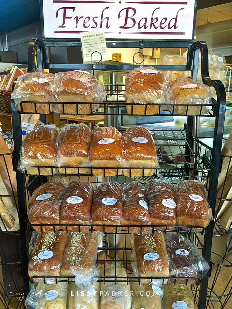 home made breads on a rack