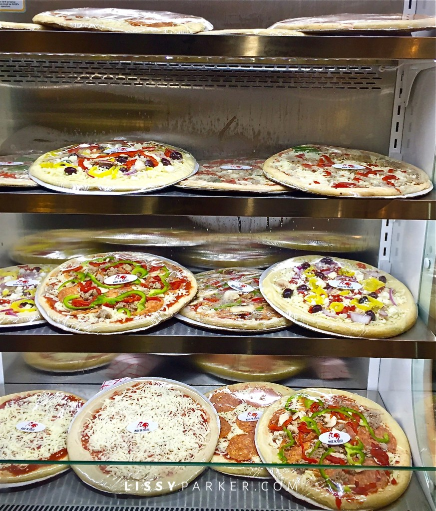 fresh pizza to go and ready to cook