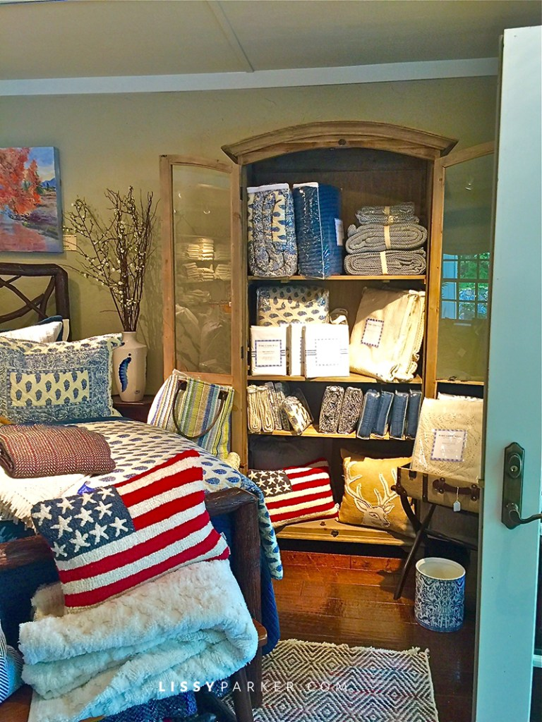 Hooked American flag pillows