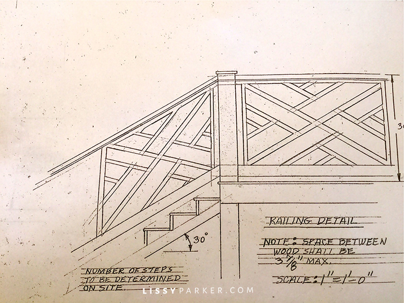 Chinese Chippendale rail drawing