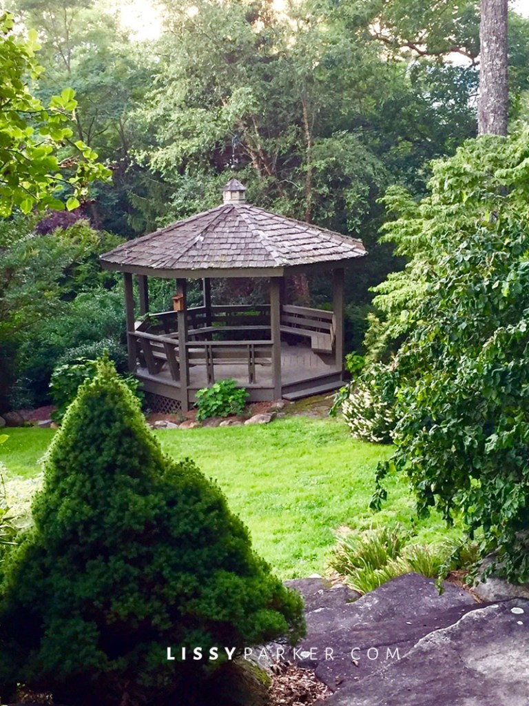 garden gazebo and orchard