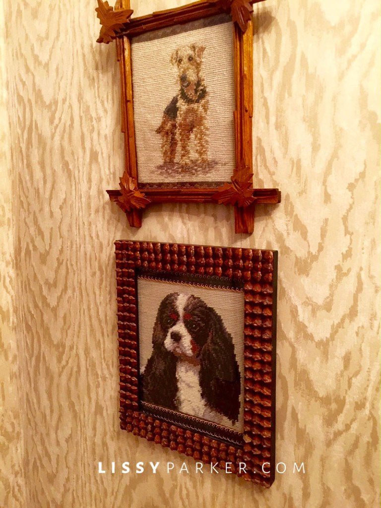 dog pictures in needle point