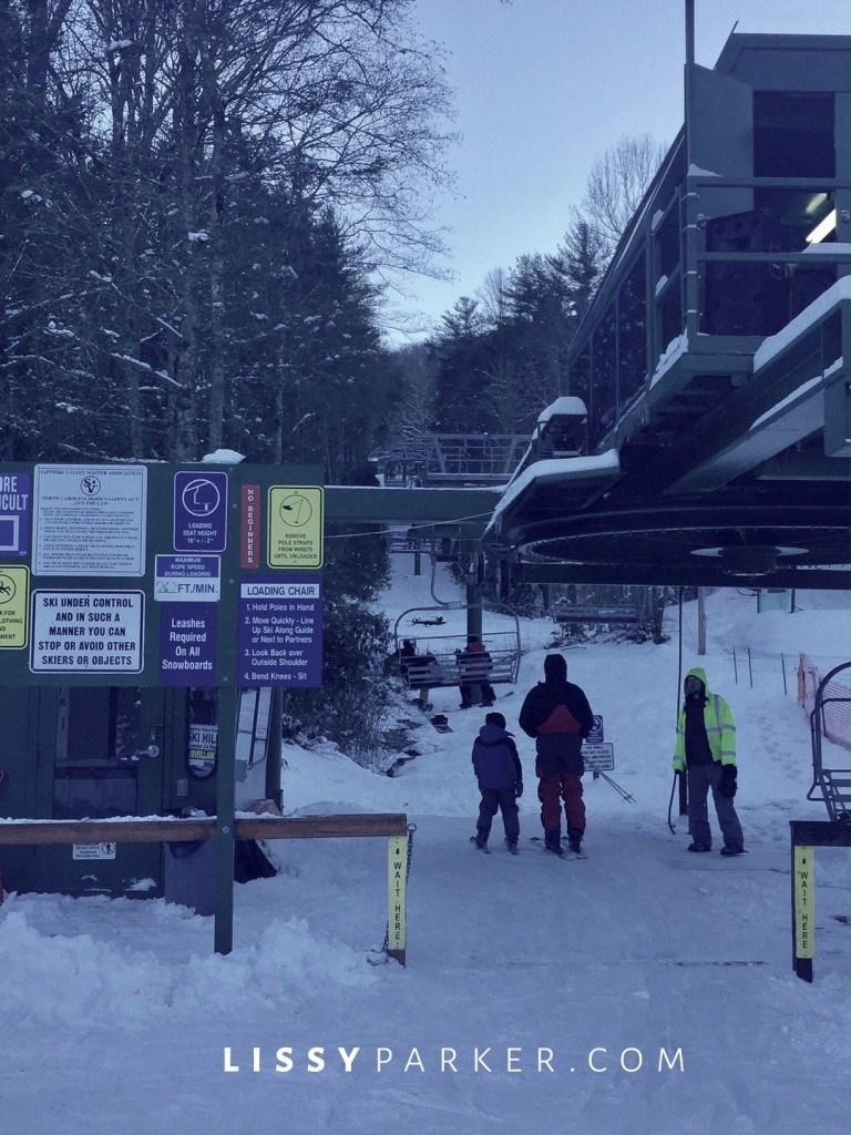 Winter white ski slopes