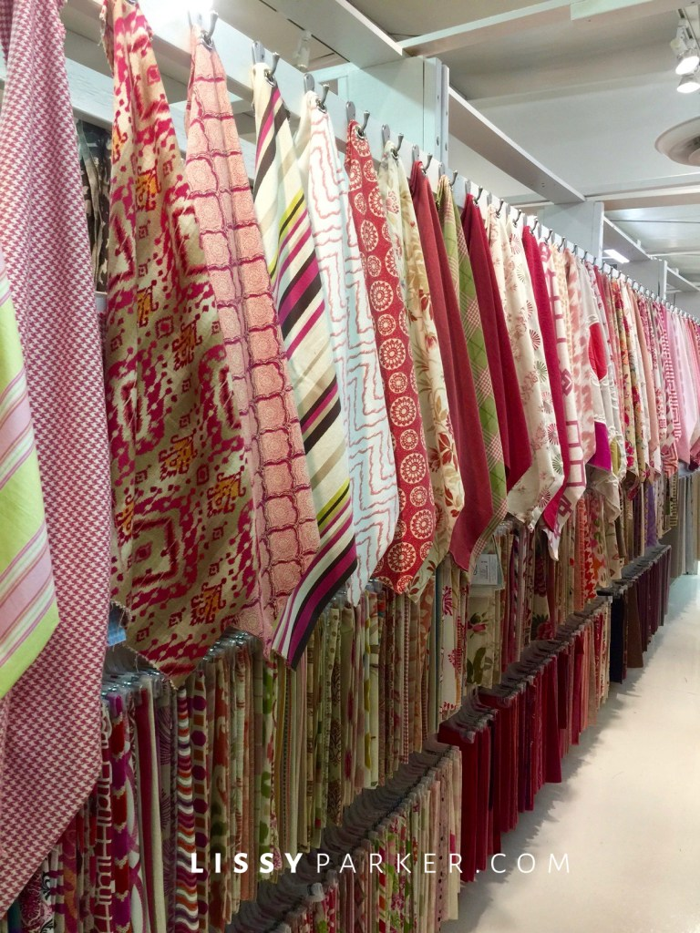pink and red fabrics