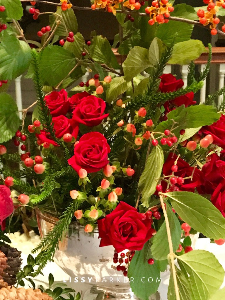 red and orange roses