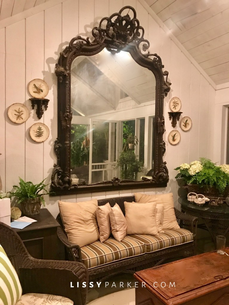mirror on the porch