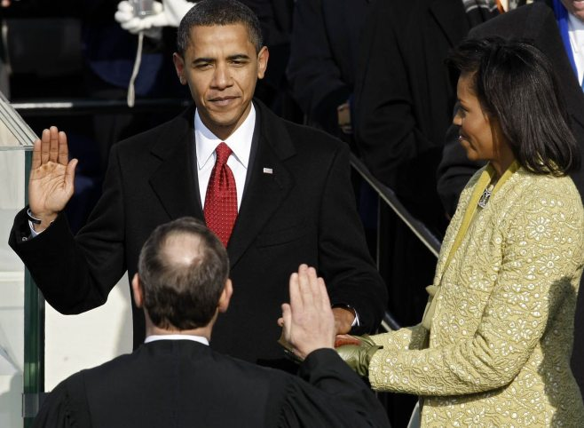 Barack Obama Is Sworn In As 44th President Of The United States