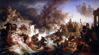 0191-0042 Die Seeschlacht Bei Salamis