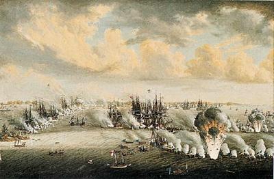 Johan Tietrich Schoultz Målning Slaget Vid Svensksund