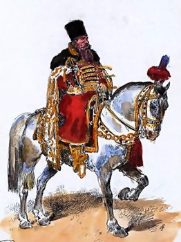 Russian Boyar From Xvii Century