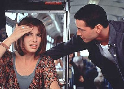 Speed Movie Bus Sandra Bullock Driving Keanu Reeves