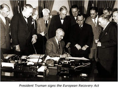Marshall Plan Signing