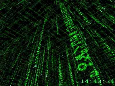 3D-Matrix-Screensaver