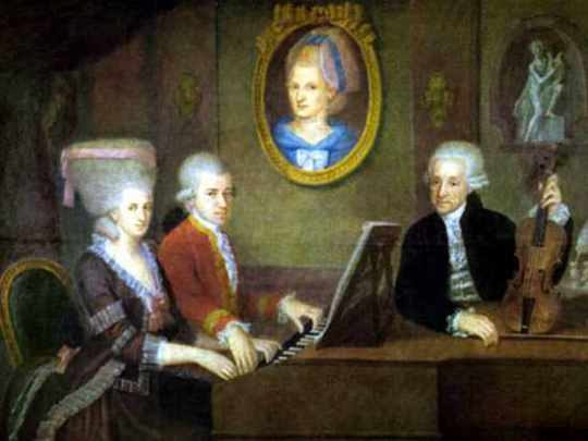Mozart Family Portrait By Della Croce 1780-1